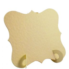 24 x Hammered Cream Elegant Place Cards, Perfect for Stylish Weddings & Parties. Tableware UK Card Crafts